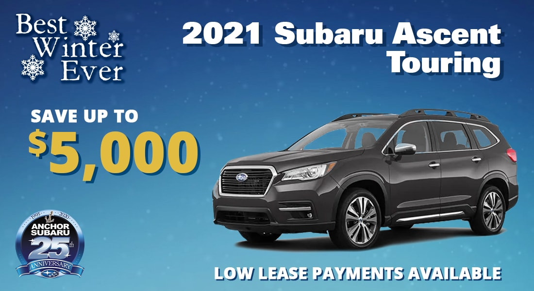 Save up to $5,000 on a 2021 Subaru Ascent