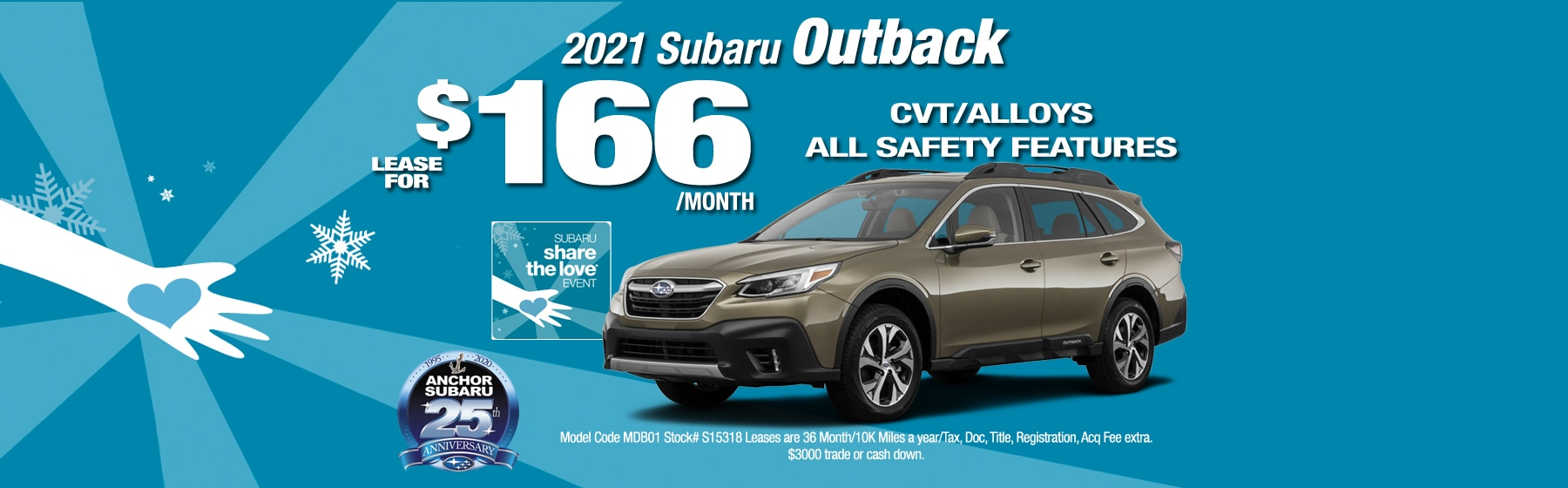 2021 Subaru Outback Lease for only $166 per month
