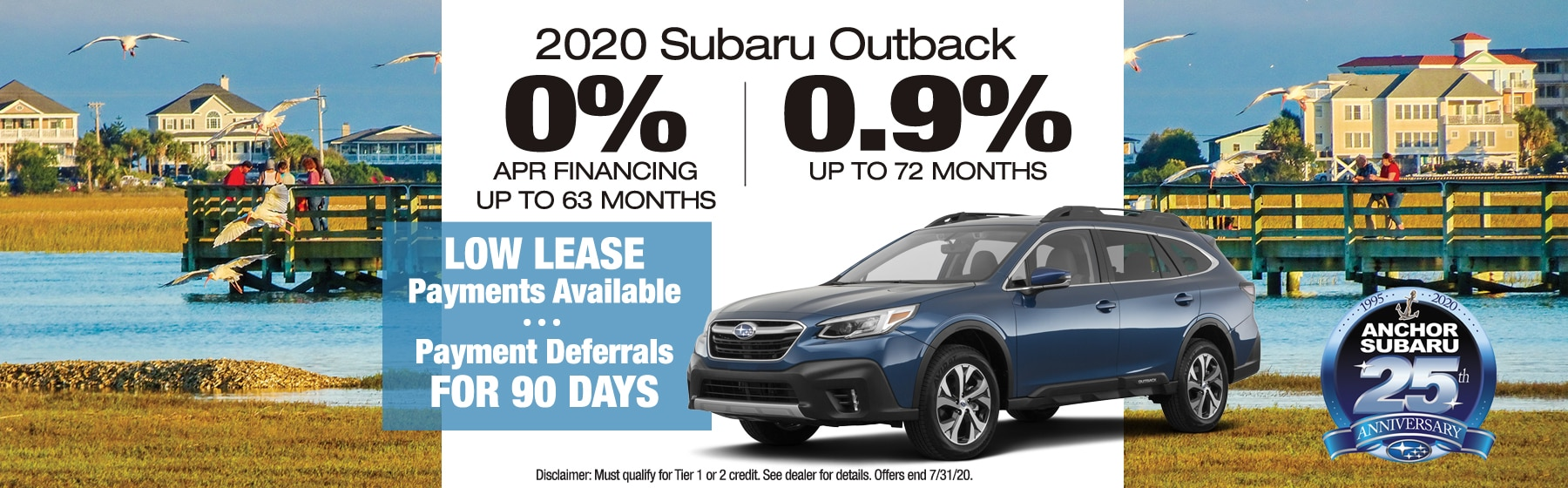 2020 subaru outback 0% apr financing no payments 90 days