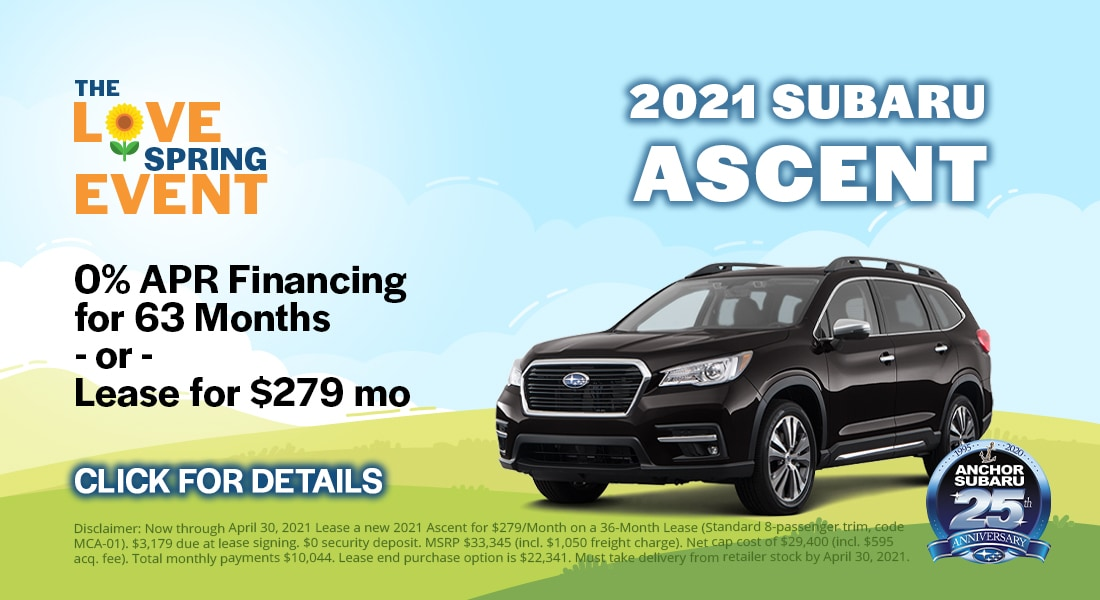 0% APR Financing for 63 months or lease for $279/month