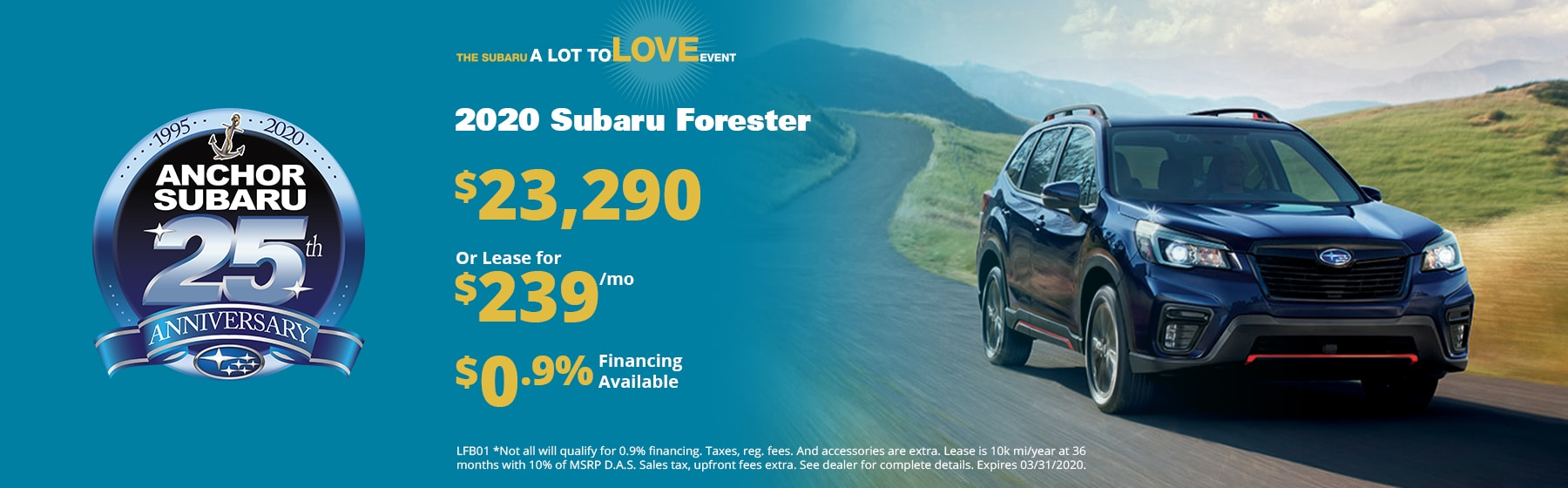 Forester Lease Special, $290/month