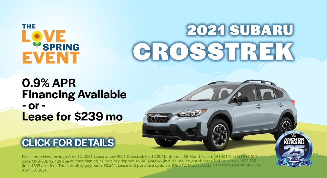 2019 Subaru Crosstrek- 0.9% APR Financing Available OR Lease for $239/month