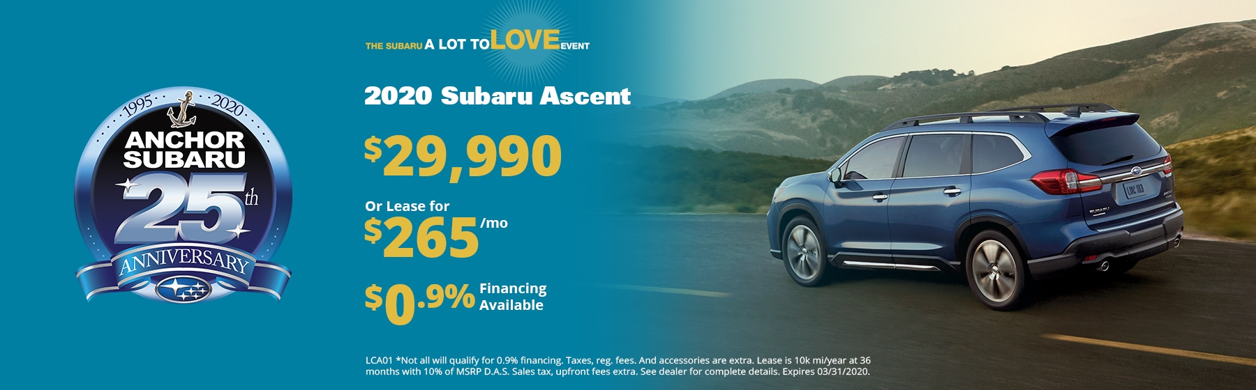 Subaru Ascent Lease Special
