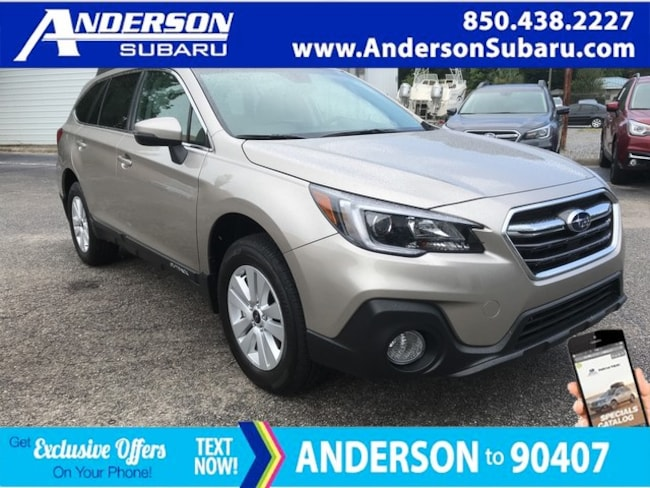 New 2018 Subaru Outback 2.5i Premium with EyeSight, Blind Spot Detection, Rear Cross Traffic Alert, Power Rear Gate, High Beam Assist, Moonroof, Navigation, and Starlink SUV For Sale/Lease Pensacola, FL