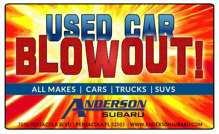 used car sale anderson subaru pensacola fl. Black Bedroom Furniture Sets. Home Design Ideas