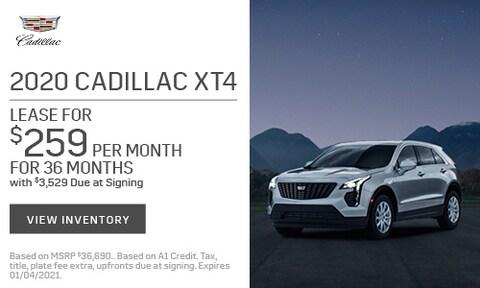 2020 Cadillac XT4 Lease - Nov