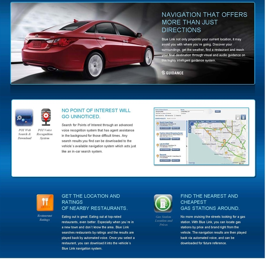 Blue Link: Navigation   Annapolis Hyundai