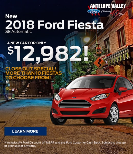 Special offer on new Ford Fiesta. Cash off! At AV Ford in Lancaster