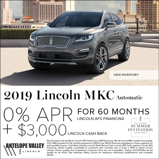 2019 Lincoln MKC special offer at Antelope Valley Lincoln
