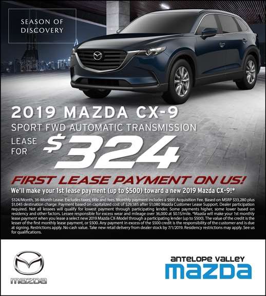 Mazda CX-9 Lease Special Offers at Antelope Valley Mazda near Edwards