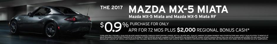 Financing Offer : 0.9% APR for 72 months on select Mazda models