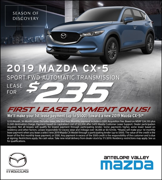 Mazda CX-5 Lease Special Offers at Antelope Valley Mazda near Rosamond
