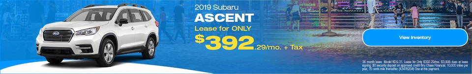 2019 Subaru Ascent September Offer