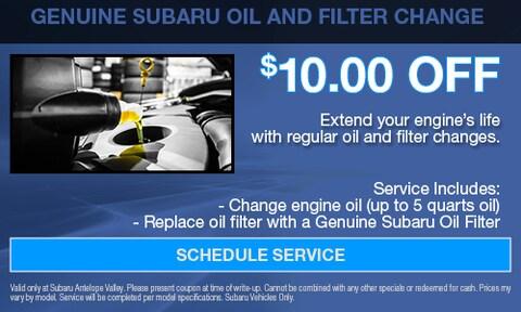 Genuine Subaru Oil Filter Change