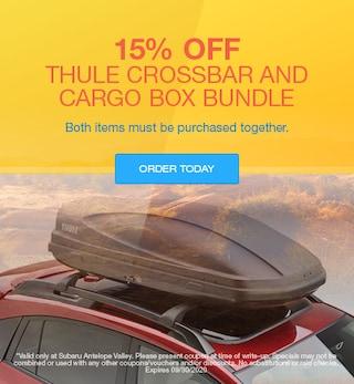 15% Off Thule Crossbar and Cargo Box Bundle