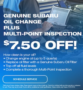 Genuine Subaru Oil Change Plus Multi-Point Inspection
