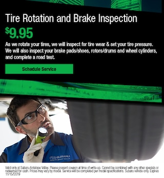 Tire Rotation and Brake Inspection