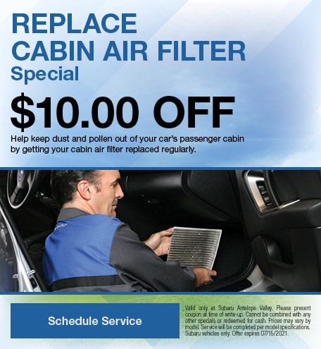Replace Cabin Air Filter Special