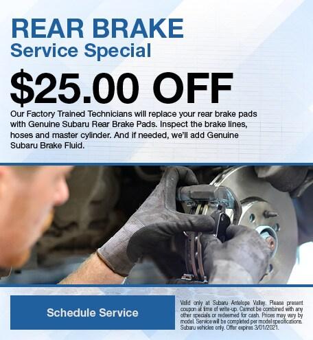 Rear Brake Service Special
