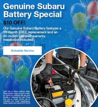 Genuine Subaru Battery Special