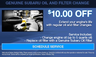 Genuine Subaru Oil and Filter Change
