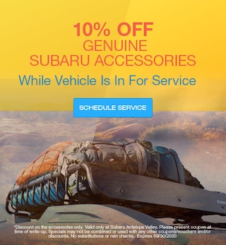 10% Off Genuine Subaru Accessories While Vehicle Is In For Service