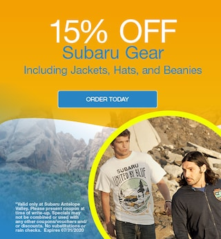 15% Off Subaru Gear