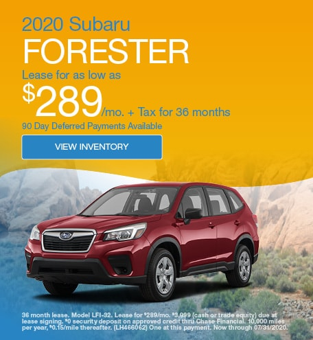 2020 Subaru Forester July Offers