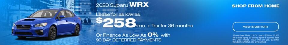 2020 Subaru WRX May Offer