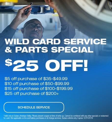 Wild Card Service & Parts Special