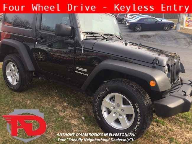 Certified Pre-Owned 2017 Jeep Wrangler JK Sport 4x4 SUV Elverson, PA