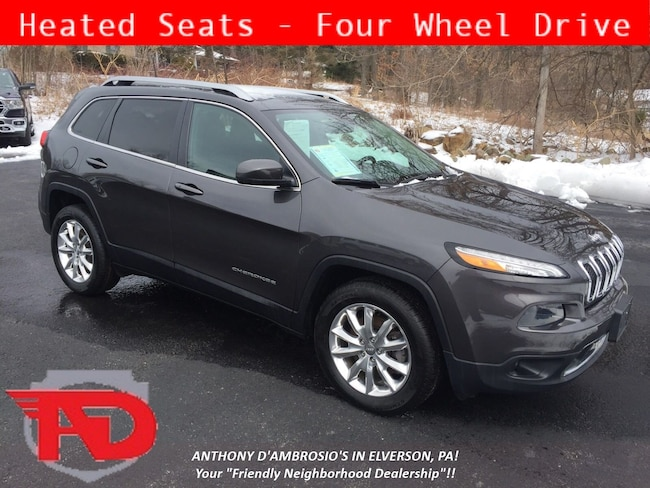 Certified Pre-Owned 2016 Jeep Cherokee Limited 4x4 SUV Elverson, PA
