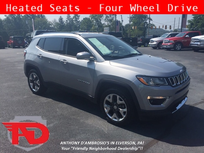 Certified Pre-Owned 2017 Jeep New Compass Limited 4x4 SUV Elverson, PA