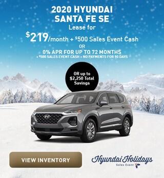 December 2020 Hyundai Santa Fe