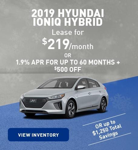 January 2019 Hyundai Ioniq Hybrid