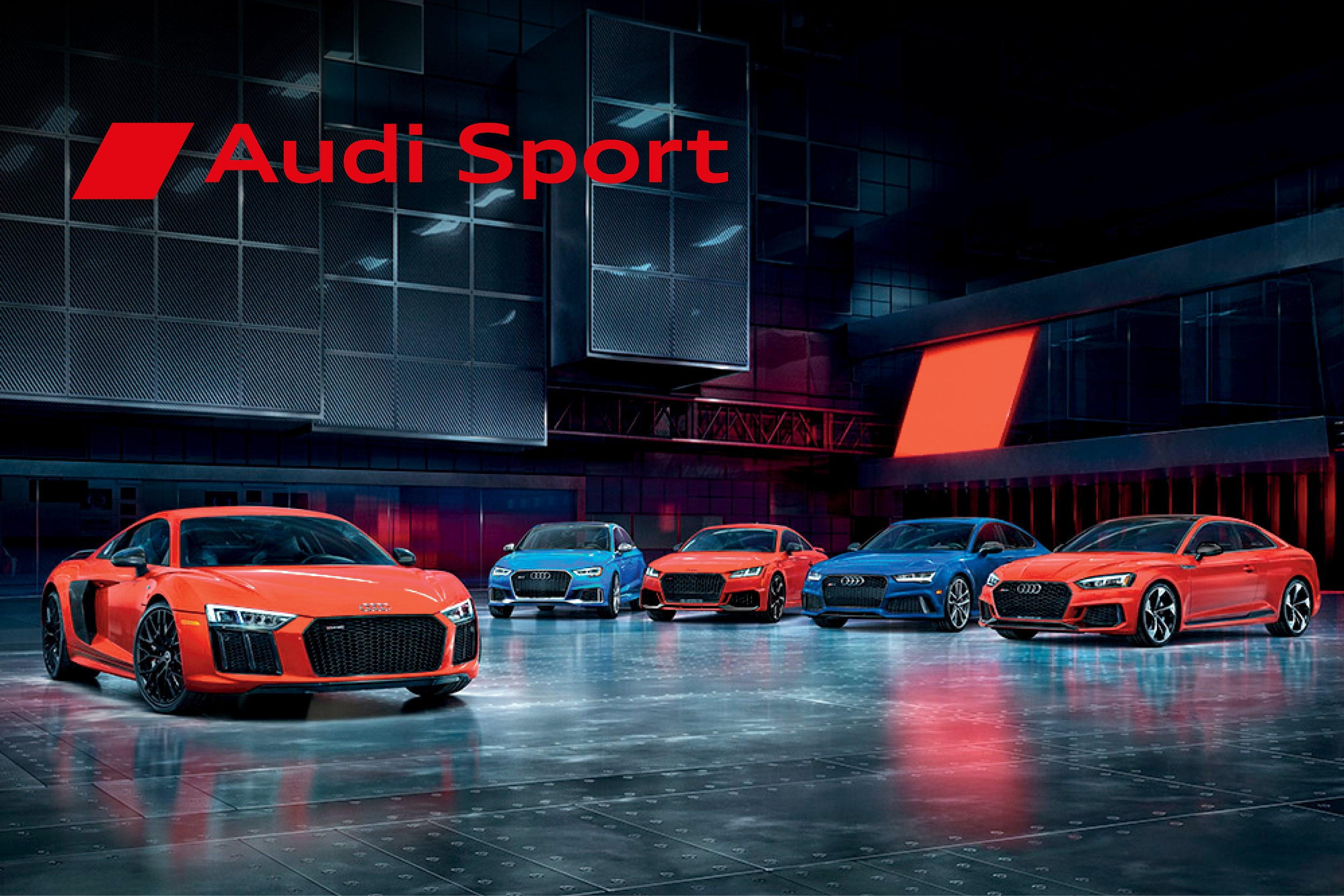 Audi sport models brochure showing off the new Audi R8 and Audi TT