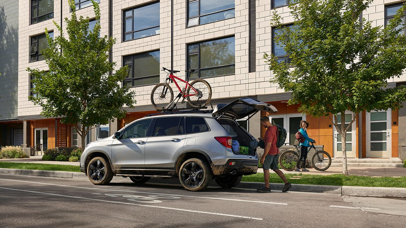 2019 Honda Passport with trunk open