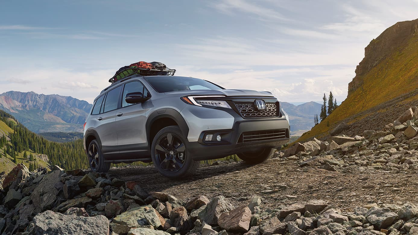 2019 Honda Passport on unpaved path