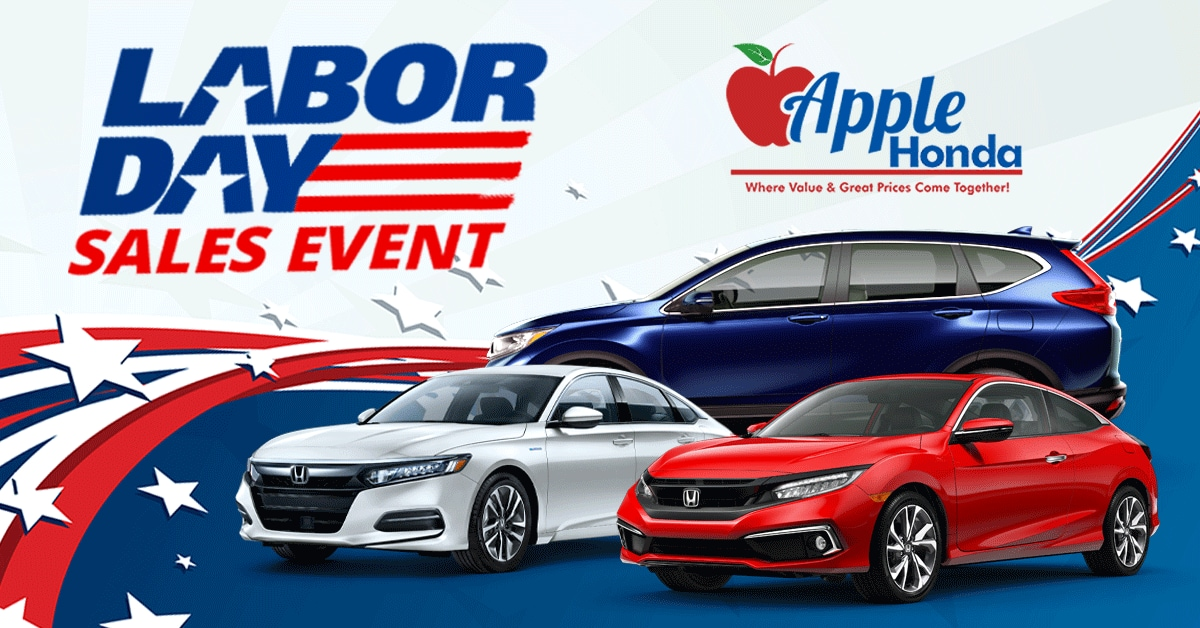 Apple Honda Labor Day Sunny Days Sales Event