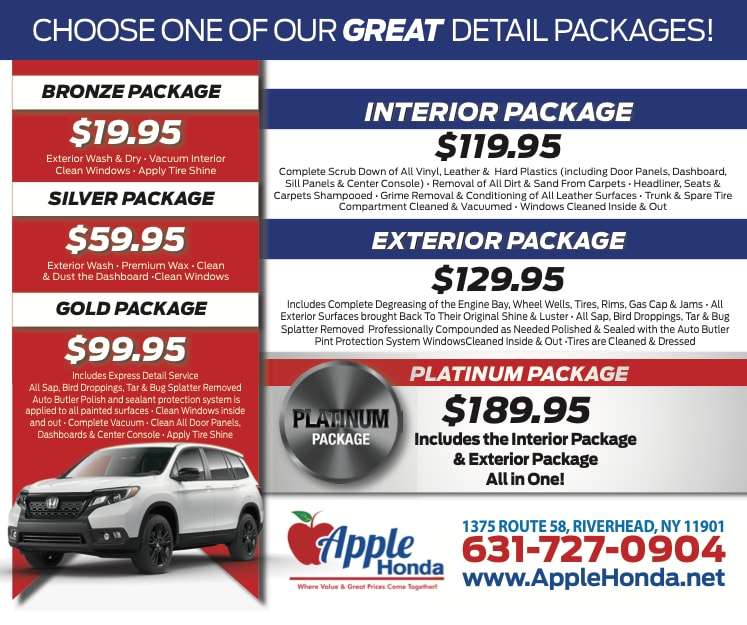 Detail Packages in Riverhead