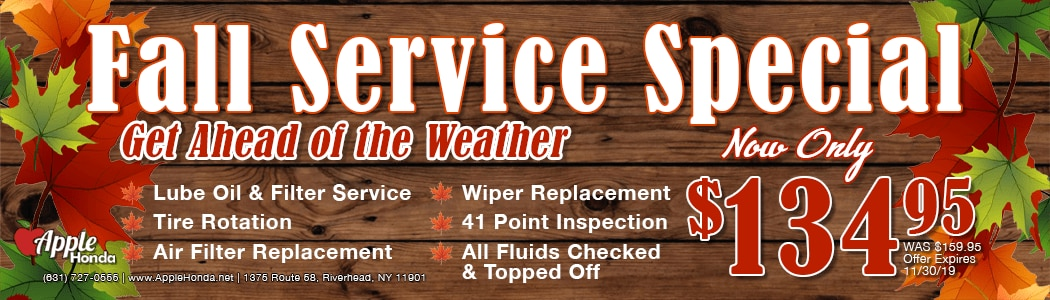 Fall Service Special in Riverhead