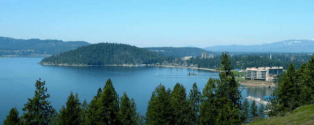 Scenic view of Coeur d'Alene, WA