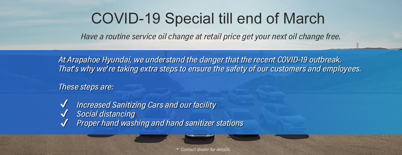COVID-19 Special Until End of March in Centennial CO