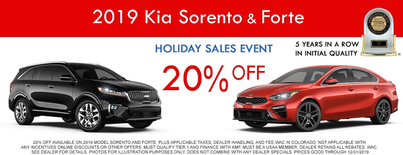 Don't miss out on the 2019 Kia Holiday Sales Event near Littleton CO