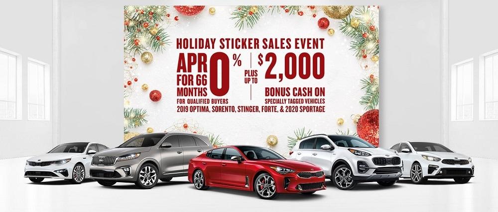 Denver Area Kia Holiday Sticker Sales Event