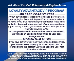 Bob Rohrman's Arlington Acura LOYALTY ADVANTAGE VIP PROGRAM