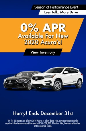 0% APR Available for New 2020 Acuras - APR