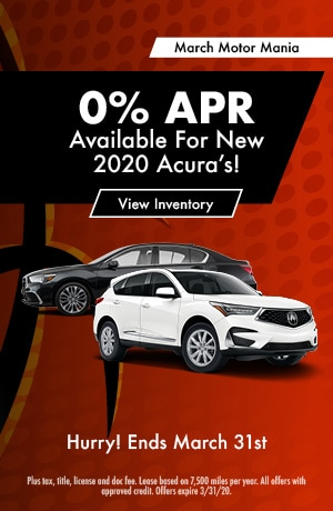 0% APR for New 2020 Acura's