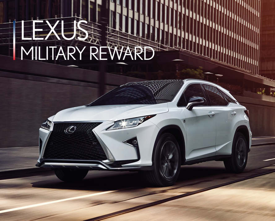 Lexus Military Discount Banner