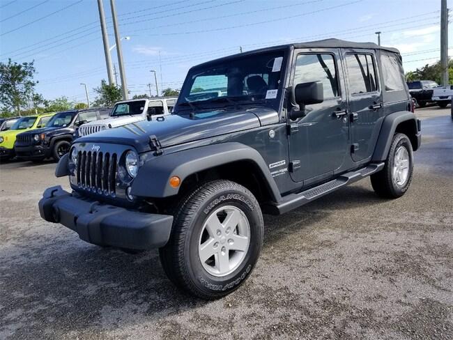 New 2018 Jeep Wrangler Unlimited WRANGLER JK UNLIMITED SPORT S 4X4 Sport Utility For Sale/Lease Tamarac, Florida